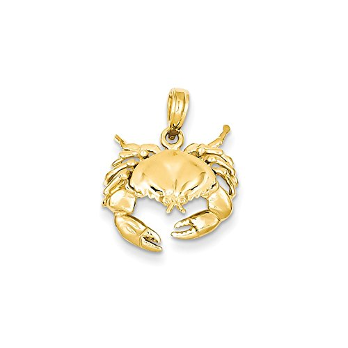 14k Yellow Gold Polished Open-