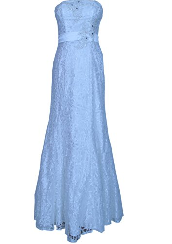 Langes Abendkleid Ballkleid Cocktailkleid Spitzenkleid mit Stola creme Gr. 46 a6cf13f