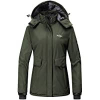 Wantdo Women's Mountain Ski Fleece Jacket (Army Green)
