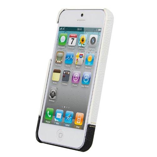 Melkco Mix and Match Line D02 Leder Snap Cover für Apple iPhone 5 weiß/schwarz