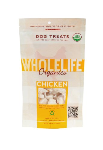 Whole Life Pet Pure Meat All Natural USDA Certified Organic Freeze Dried Chicken Brest Treats for Dogs 2.8 oz, My Pet Supplies