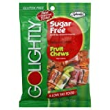 GoLightly Sugar Free Fruit Chews, 2.75-Ounce Bags Pack of 6