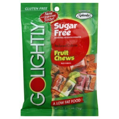 GoLightly Sugar Free Fruit Chews, 2.75-Ounce Bags Pack of 5 by GoLightly