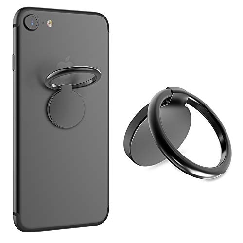 VASIVO Finger Ring Stand 360 Rotation Cell Phone Ring Stand Holder for for iPhone 7 7 Plus 6S 6, Galaxy S6 S7 S8 S8 Plus and Other Smartphones (Gunmetal) ()