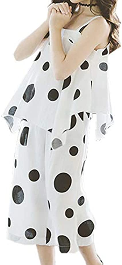 Oushiny Girls Polka Dots Top /& Culotte Pants 2-Piece Set 2 Styles for 2-12
