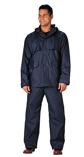 Rothco 2-Pc Pvc Coated Nylon Rainsuit-Navy, 4X