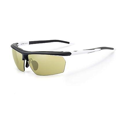 SX-CHENG Gafas de Sol polarizadas fotocromáticas Ciclismo Pesca Deportes acuáticos Correr esquí (Color