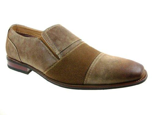 Ferro Aldo Menns 19279 To Tone Slip Ons Casual Kjole Loafers Sko Brune
