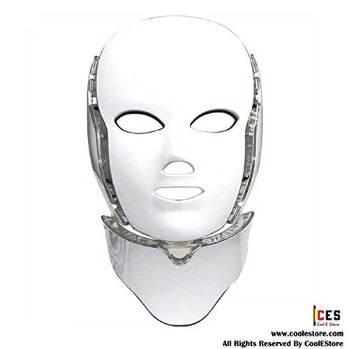 CoolEStore Color light skin care mask &neck FDA Cleared (white) by CoolEStore