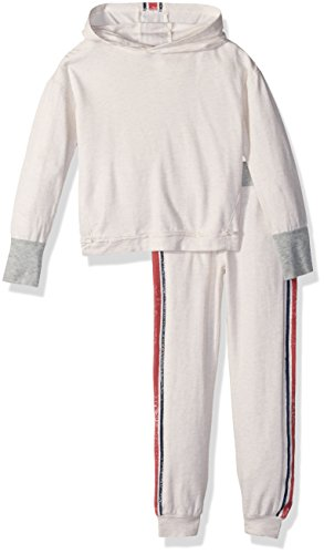 Splendid Oatmeal (Splendid Toddler Girls' Speckle Baby French Terry Roller Print Set, Oatmeal, 3T)
