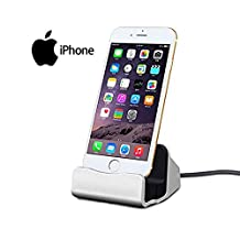 Home-Neat USB Charger Dock Desk Charger Station for iPhone 7 6S 6 Plus 5S SE 5C (Sliver)