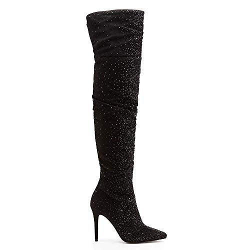 Jessica Simpson Women's Luxella Black Deluxe Microsuede 8.5 M US