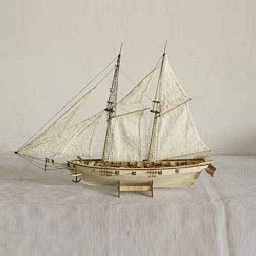 Amazon.com: DIY Scale 1:100 Wooden Small Sailboat Ship Kit ...