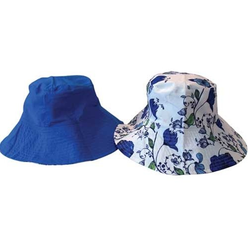 Sun Lily Fashion Flips Reversible Sun Hat with Tote - Womens (Napa Valley)