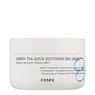 COSRX Hydrium Green Tea Aqua Soothing Gel Cream, 1.69 fl.oz / 50ml | Camelia, Aloe Gel | Korean Skin Care, Vegan, Cruelty Free, Paraben Free