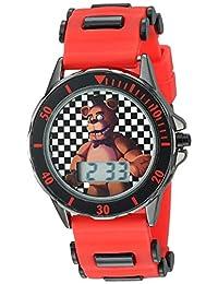 Five Nights at Freddy's FNF4019 - Reloj de cuarzo (metal y silicona), color rojo