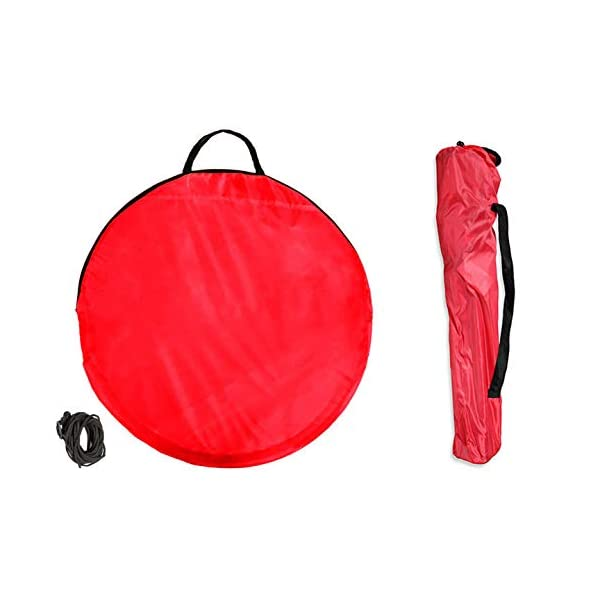 takestop® Sedia Sdraio Pieghevole Mare Campeggio Poltrona con Parasole Tenda OMBREGGIANTE Struttura Alluminio Rosso per… 3 spesavip