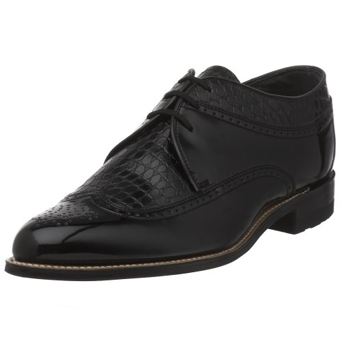 Stacy Adams Mens Dayton Wing-tip Oxford Nero