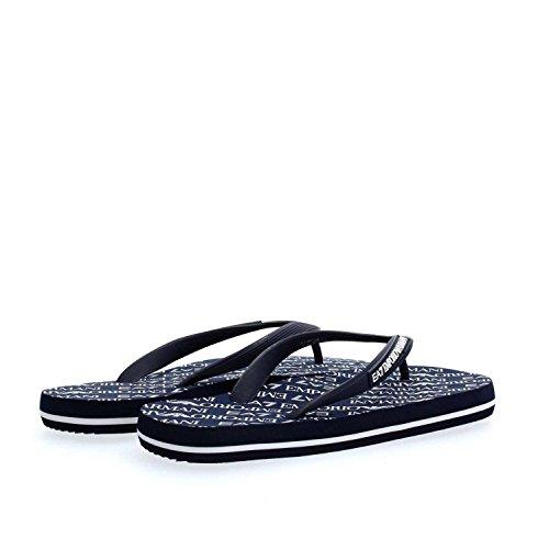 nuevo world Emporio Azul zapatillas EA7 Armani hombres chanclas goma en sea sandalias xH8SqxR1