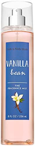 Bath and Body Works VANILLA BEAN Fine Fragrance Mist 8 Fluid Ounce (2018 Edition)