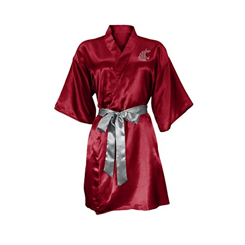 - NCAA Washington State Cougars Satin Kimono, Large/XL