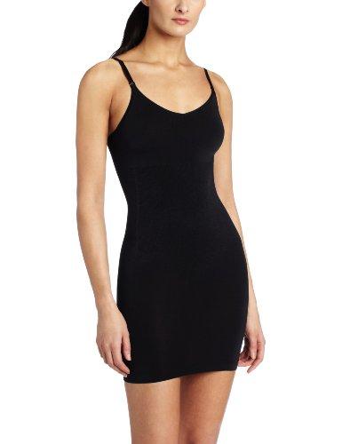 Maidenform Women's Control It Shiny Collection Full Slip Bra, Black, Large -