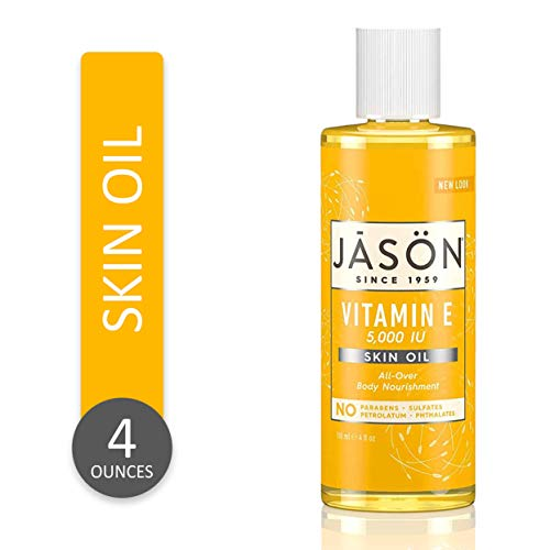 JASON Vitamin E 5,000 IU All Over Body Nourishment Oil, 4 Fl