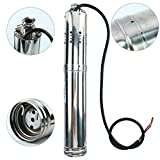 (US) Amarine-made 180W DC 12V Solar Water Powered Pump Submersible Bore Hole Pond Deep Well Pump