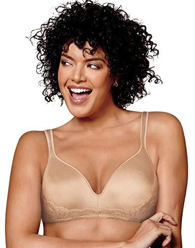 Playtex Love My Curves Wire-Free Bra, 36DDD, Nude