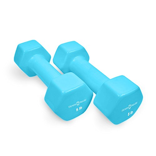 Fitness Republic Vinyl Coated Dumbbells Set (Hex Hand Weights)