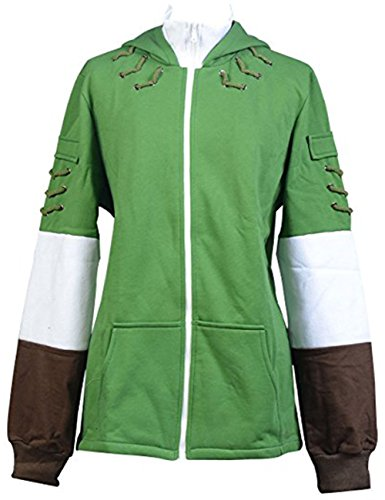Cosplaybar The Legend of Zelda Link Hoodie Zipper Coat Hyrule Jacket Costume XXL