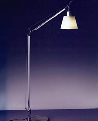 Tolomeo with shade reading floor lamp parchment 110 for Tolomeo reading floor lamp with parchment shade