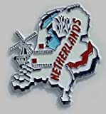 Flagline Netherlands - Country Magnet