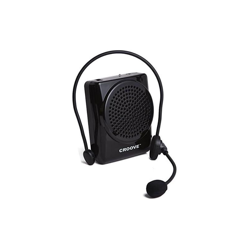 Croove Rechargeable Voice Amplifier, wit