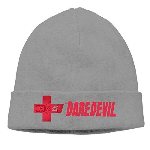 [Caromn Daredevil Superhero Beanies Skull Ski Cap Hat DeepHeather] (Iron Fist Superhero Costumes)