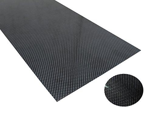 Microheli High Gloss Plain Weave Carbon Fiber Sheet 190 x 100 x 1.0mm