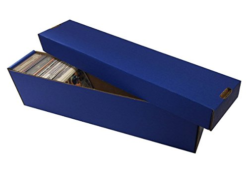 (10) BLUE 800 Count 2 Piece Box - Premium Vertical Storage Box - Baseball, Football, Basketball, Hockey, Nascar, Sportscards, Gaming & Trading Cards - By Max Pro Collecting Supplies ()