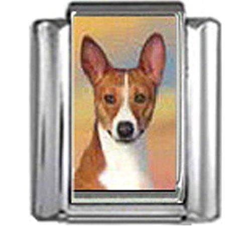 Stylysh Charms Basenji Dog Photo Italian 9mm Link DG048