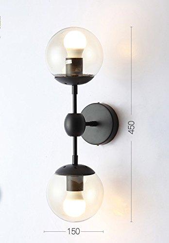 DHG Lámpara de Pared de la cabecera de la Sala de Estudio, lámpara de Pared Retra Americana Creativa nórdica, lámpara de...