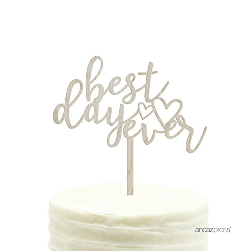 Andaz Press Wedding Wood Cake Toppers, Best
