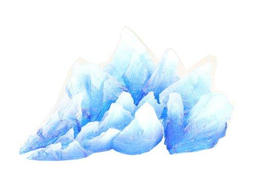 オビツドール オビツエフェクト No.8 「ズガガガ」 重塗装版 氷 B00XU630UI 重塗装版 氷