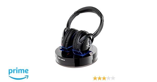 Meliconi HP300 - Auriculares de diadema cerrados (inalámbricos RF, 20 mW, alcance 100 m), negro: Amazon.es: Electrónica