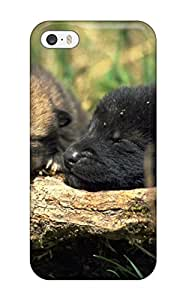 Hot Tpu Cover Case For Iphone/ 5/5s Case Cover Skin - Wolves Animal