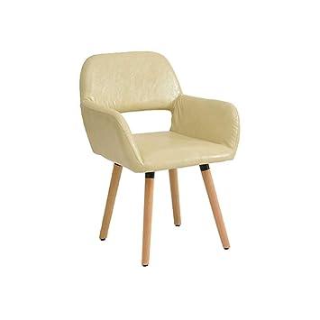 Amazon.com: Creative Fashion Silla de madera maciza para ...