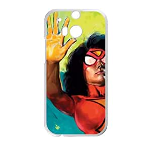 HTC One M8 Cell Phone Case White Spider Woman Kapow LSO7721930