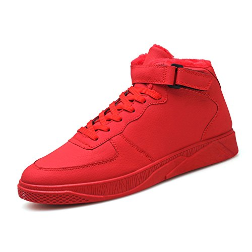 FEIFEI sportive Fashion 3 High 5 CN42 Warm Colore uomo Nero Plate UK7 8 Help EU da Colors Le Rosso 41 Winter dimensioni Shoes calzature Keep Scarpe 65BSEn