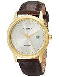 Citizen Men's AW1232-04A Straps Analog Display Japanese Quartz Brown Watch