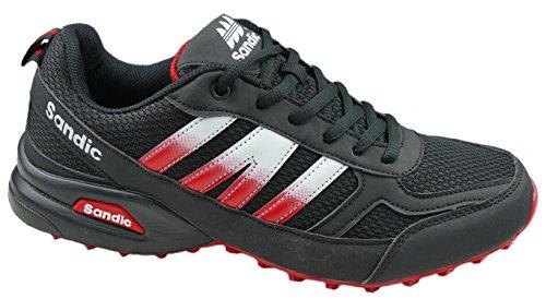 gibra - Zapatillas de sintético/textil para hombre, color Negro, talla 43