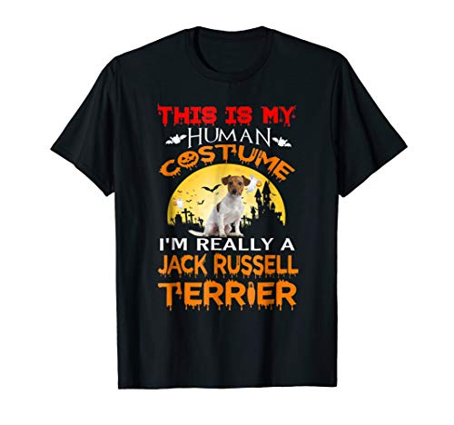 I'm Really A Jack Russell Terrier Dog T-Shirt Halloween 2018