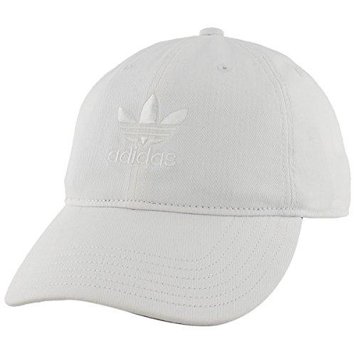 Canvas Hat Cap (adidas Men's Originals Relaxed Strap back Cap, White/White, One Size)